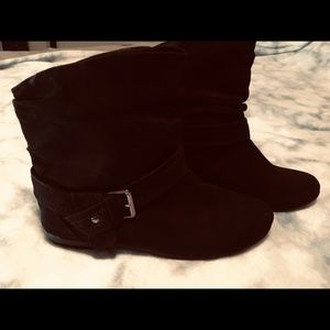 Suede black Ankle boots